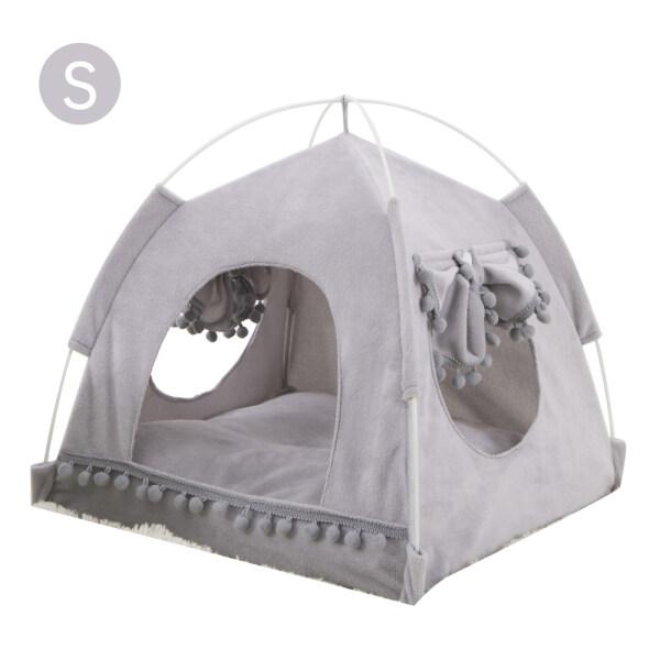 Lều Cho Mèo Nhà Chó Thú Cưng Có Thể Gập Lại Mùa Xuân Ấm Áp Mùa Hè Bốn Mùa Cũi Phổ Thông Có Thể Tháo Rời Có Thể Rửa