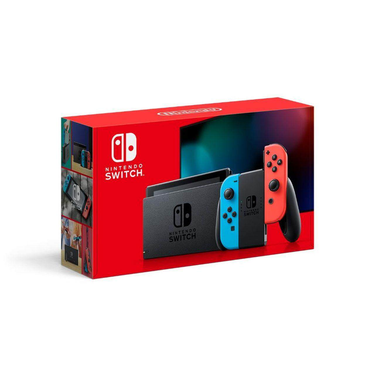 NINTENDO SWITCH CONSOLE (NEON BLUE/RED) JAPAN SET 1 YEAR LOCAL SUPPLIER  WARRANTY - PROMOTION PRICE !!