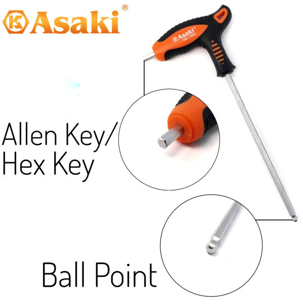 Asaki T-type Ball Point Allen Key