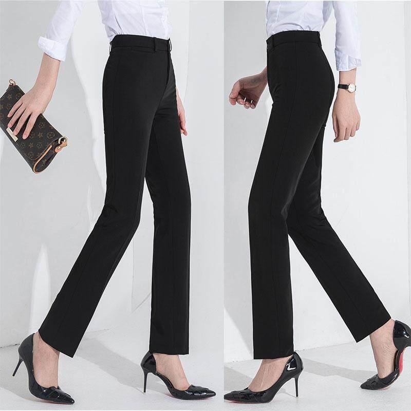 295da1fa037cb Trousers dress high waist straight work pants summer professional ol loose  new thin black McDonald s slim