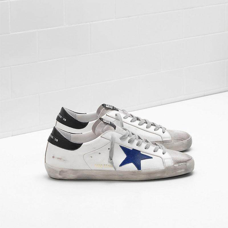 a2e0945e Golden Goose Superstar Sneakers G33MS590.L29 Upper In Calf Leather Star And  Toe In Suede