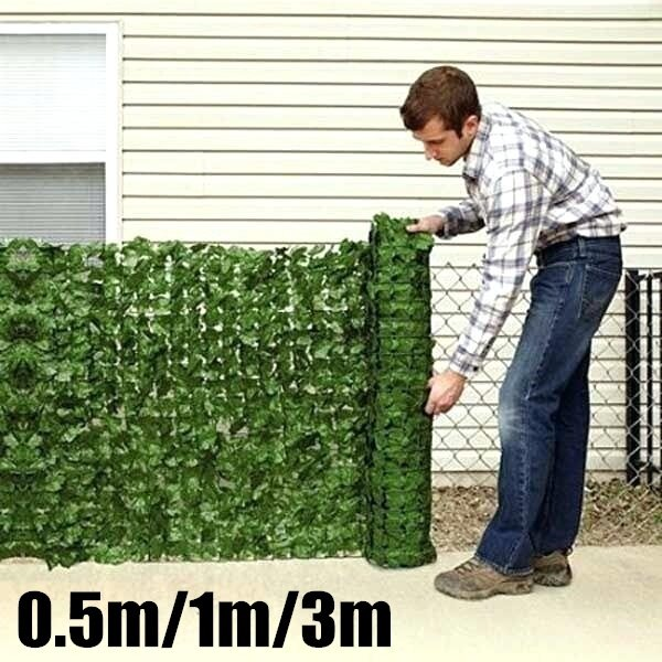 0.5x1 m Garden Fence Panel Artificial Ivy Leaf Hedge Privacy Screening Roll