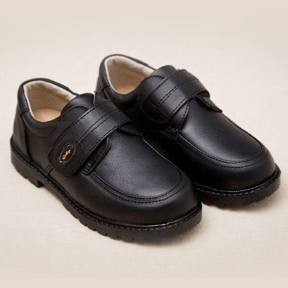 New Kids Da Thật Giày Tây Cưới Cho Bé Trai Thương Hiệu Trẻ Em Giày Cưới Đen Chàng Trai Giày Sneaker Đế Xuồng Chính Thức, S011