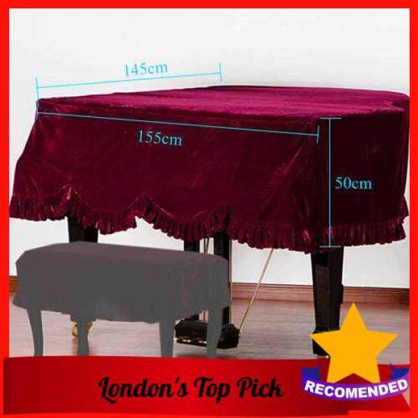 [ London ] Grand Piano Pleuche Bordered Dust Protective Cover Cloth Malaysia