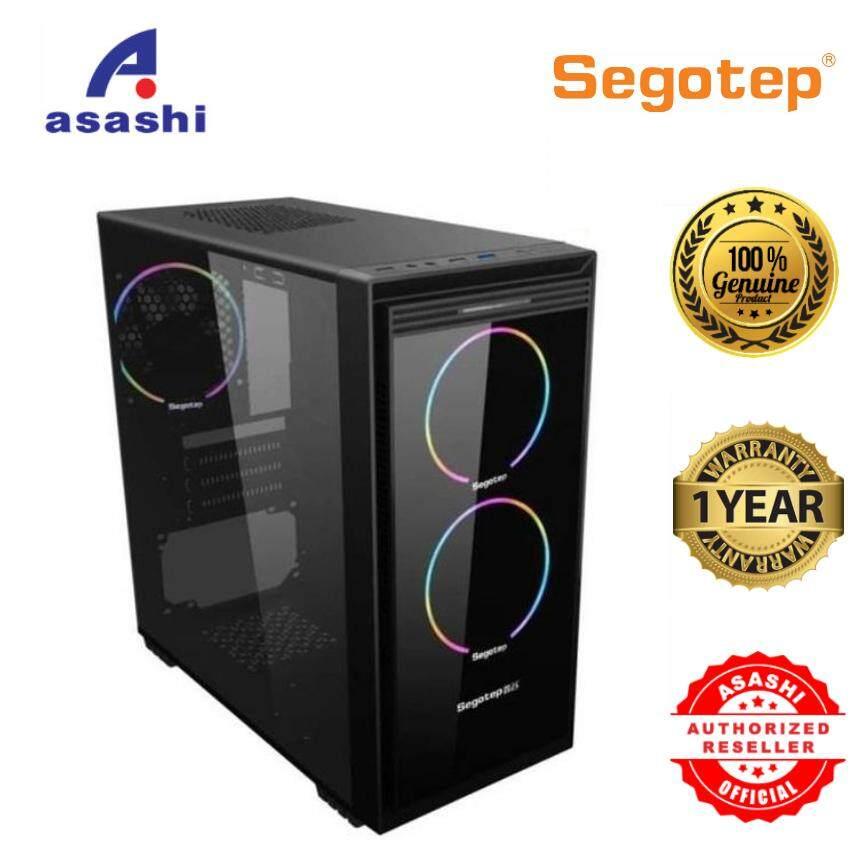 Segotep Halo 6 Mini M-ATX RGB Gaming Computer Case Malaysia