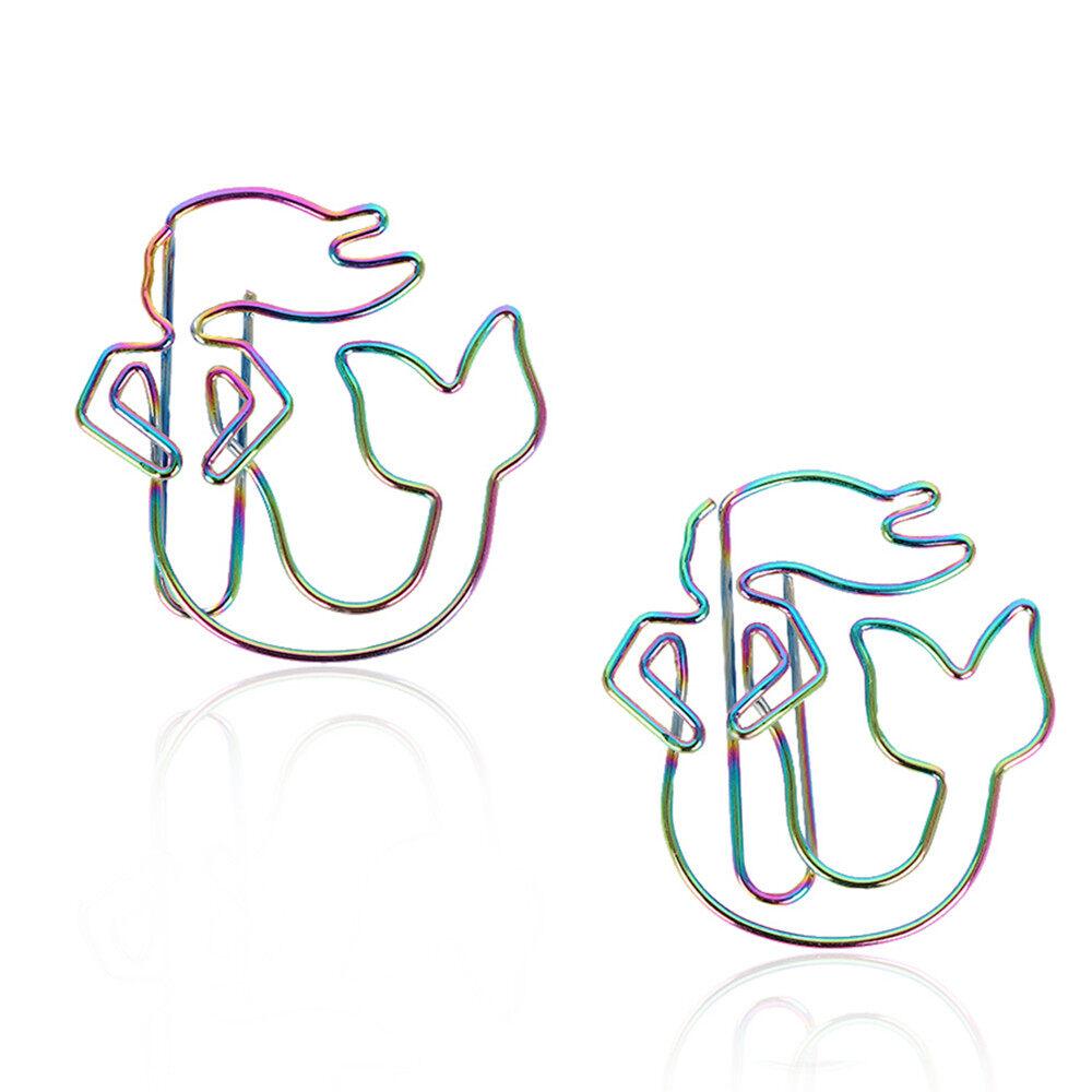 Mua 2 Chiếc Bền Văn Phòng & Đồ Dùng Học Tập Giấy Butler Nhiều Màu Sắc Dấu Kẹp Giấy Người Cá Cầu Vồng Hình
