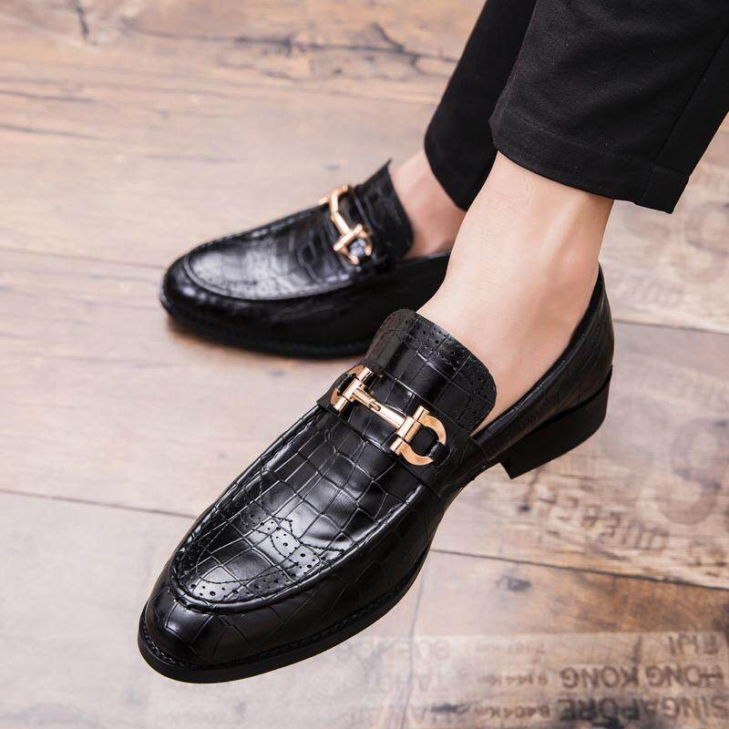 Mens Leather Shoes Mens Leather Summer 2018 New Mens Business Dress Korean Style Casual Black Leather Shoes Special Buy Shoes Formal Shoes
