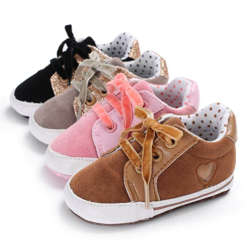 Bayi Baru Lahir Lembut Sole Sepatu Crib Bayi Laki-laki Perempuan Sepatu Sneaker Balita Anti