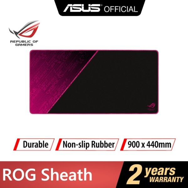 ASUS ROG Sheath Electro Punk with extra-large, gaming-optimized cloth surface, anti-fraying stitched frame, and non-slip rubber base Malaysia