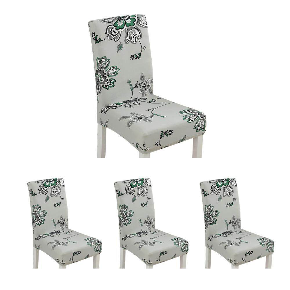 BuyBowie 4Pcs Modern Printing Stretch Dining Chair Covers Removable Washable Spandex Slipcovers for High Chairs