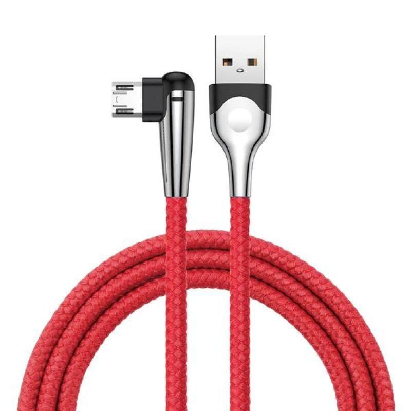 Bảng giá Baseus Hai Đầu Cắm Có Thể Đảo Ngược Micro USB Đèn LED Góc 90 Độ Cáp Dữ Liệu Sạc Nhanh 2M-Đỏ (Đỏ) Phong Vũ