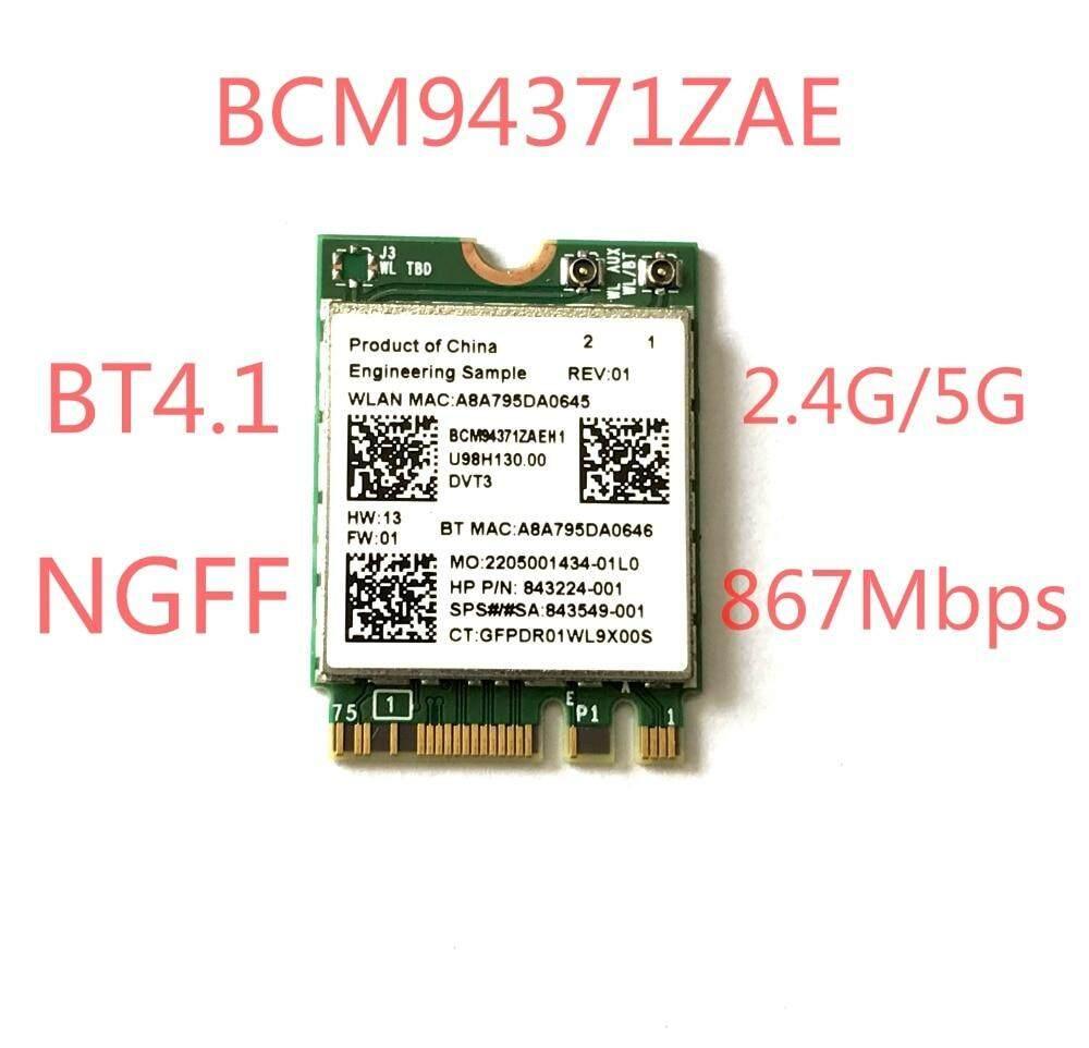 Untuk BCM94371ZAE 802.11AC 867 Mbps NGFF M2 Setengah Ukuran Kartun Wi-fi Nirkabel Adaptor WIFI + Bluetooth 4.1