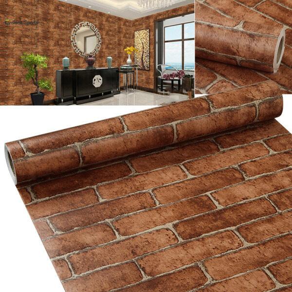 L-Impian Moden Batu-Bata Gaya Batu 3D Kertas Dinding Vinil Kertas Dinding Kertas Dinding Latar Belakang Dinding Pelekat Rumah Hiasan Rumah