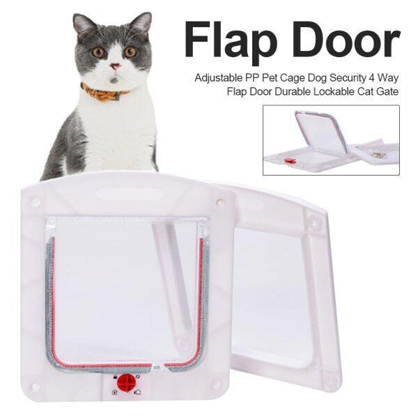 Ra Khỏi Động Vật Cổng Bảo Vệ Lồng Thú Cưng 4 Chiều Chó Mèo Bảo Mật Bền Có Thể Khóa Cửa Lật Có Thể Điều Chỉnh PP