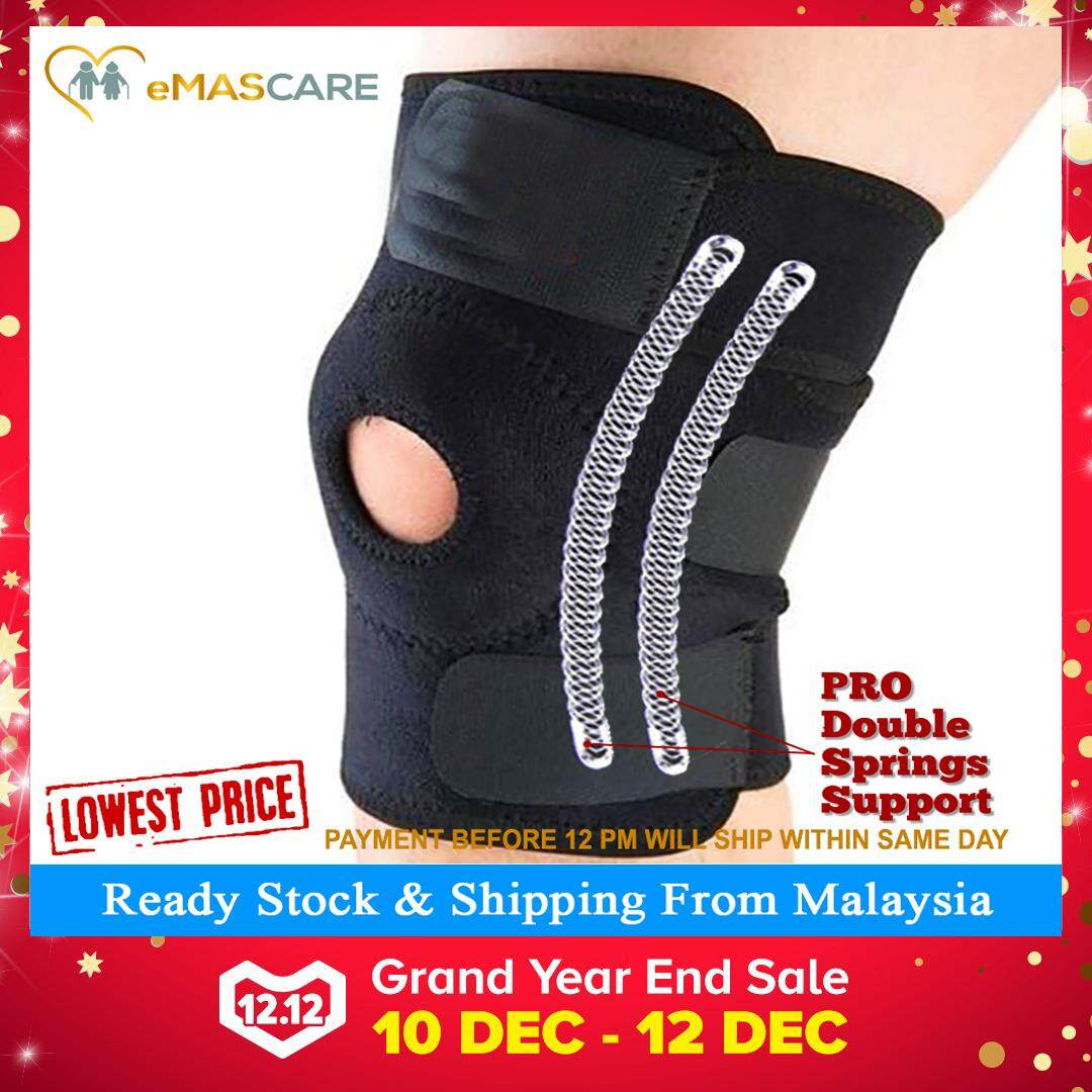 [eMASCARE] Knee Guard Knee Pad Knee Brace Patella Guard Lutut Protect 4 Spring Knee