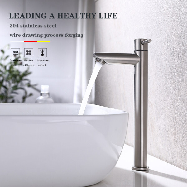 Direct Deal  304 Stainless Steel Bathroom Household Wash Basin Cold Faucet