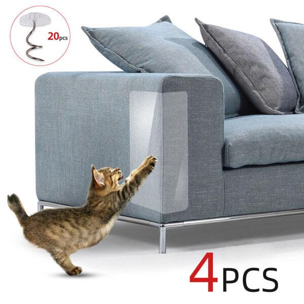 2020New 30X45cm 4 Cái Couch Cat Scratch Guards Mat Scraper Cat Tree Cào Móng Bảo Vệ Bài Sofa Cho Mèo Scratcher Paw Pads Đồ Nội Thất Cho Thú Cưng