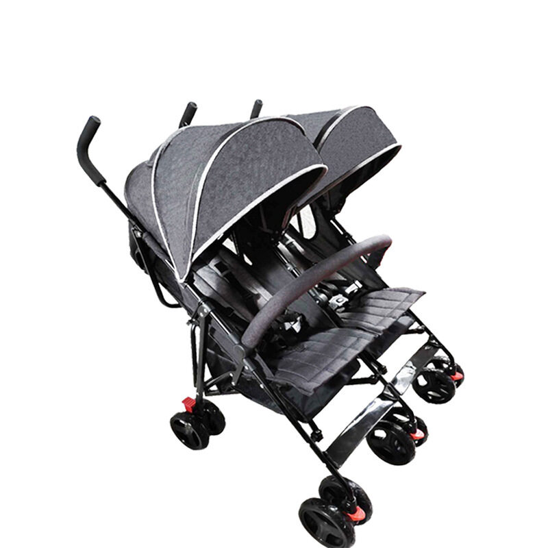 Twin baby strollers can be folded lightly and can sit half-lying Singapore