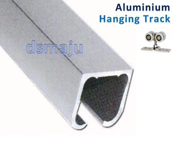 8 FT ( 244 cm ) Aluminium Hanging Track Hanging Rail Sliding Roller Rail U Track U Rail