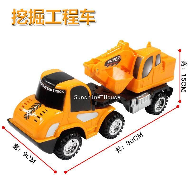 Sun เด็กวิศวกรรมรถบรรทุกปริศนาเพื่อการเรียนรู้ของเด็กเล็กโมเดลรถยนต์ของเล่น Cement Mixer By Sunshine House.