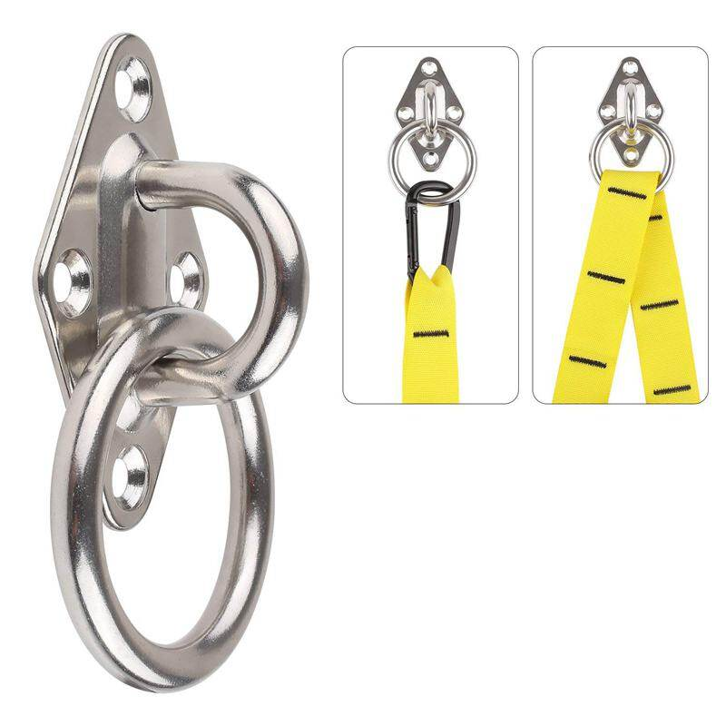 Ceiling /& Wall Mount Anchor 360° Rotated Bracket for Gymnastic Rings Hammock