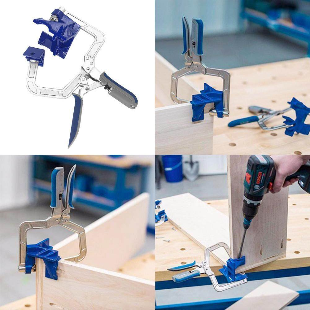 [HOSPORT] 90 Degree Right Angle Woodworking Clamp Picture Frame Corner Clip Hand Tool