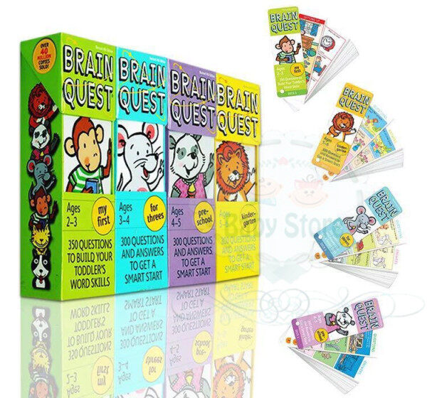 Brain Quest Flash Card Age 2 to 6 (4 sets) Malaysia