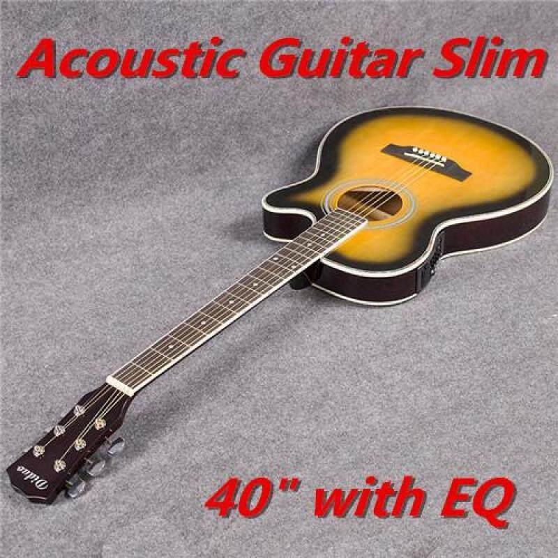 Acoustic Guitar Slim Semi Acoustic Guitar 40 inch slim barrel With EQ Malaysia