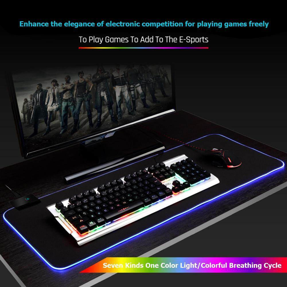 ALLOYSEED Large LED RGB Mouse Pad Rubber Lighting Gaming Mousepad Desktops Mice Mat Malaysia