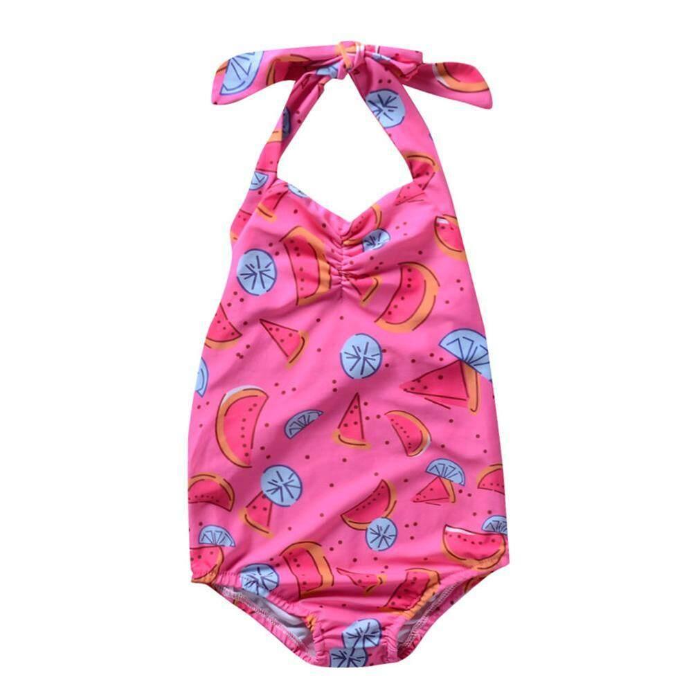 Swimwear One Piece Swimwear Sling Mesh Swimsuit Kid Girl Cute Pig Print Bathing Suit