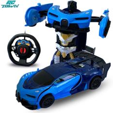 RCTOWN Mô hình xe hơi biến đổi rô bốt điều khiển từ xa tỉ lệ 1/24 dành cho trẻ em phù hợp làm quà tặng – INTL