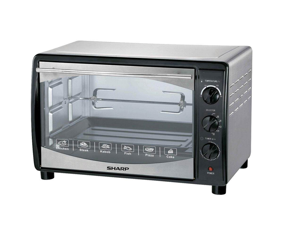 Sharp 42litre Electric Oven Eo42k With Grill Rotisserie Convention 1800w Premium