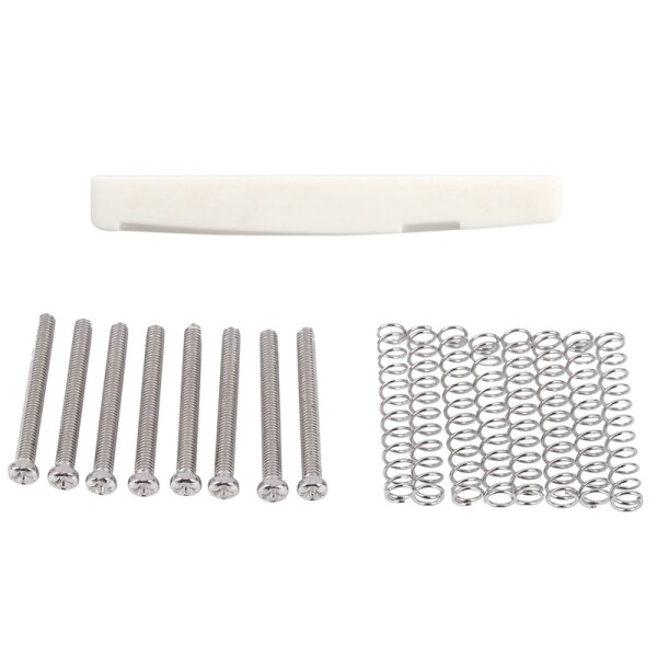 1pcs Saddle Bridge Bone Bone Guitar Saddle & 8Pcs M3X30MM Electric Guitar Humbucker Pickup Screw and Springs - Silver Malaysia