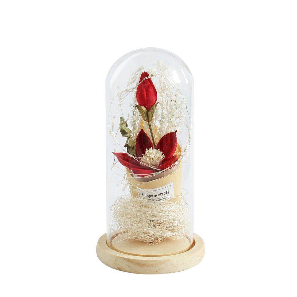 Uinn Creative เลียนแบบโดมดอกไม้แก้ว Led แจกันขนาดเล็กโคมไฟตกแต่ง By Warmness Inn.