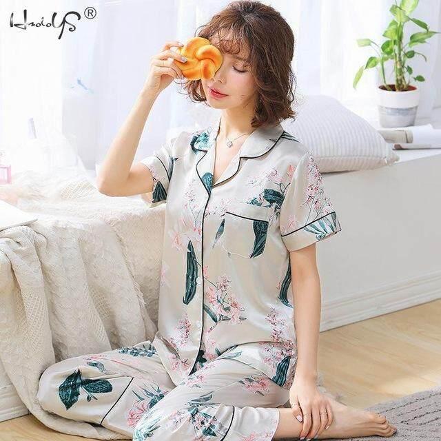 Ladies Women Satin Pyjama