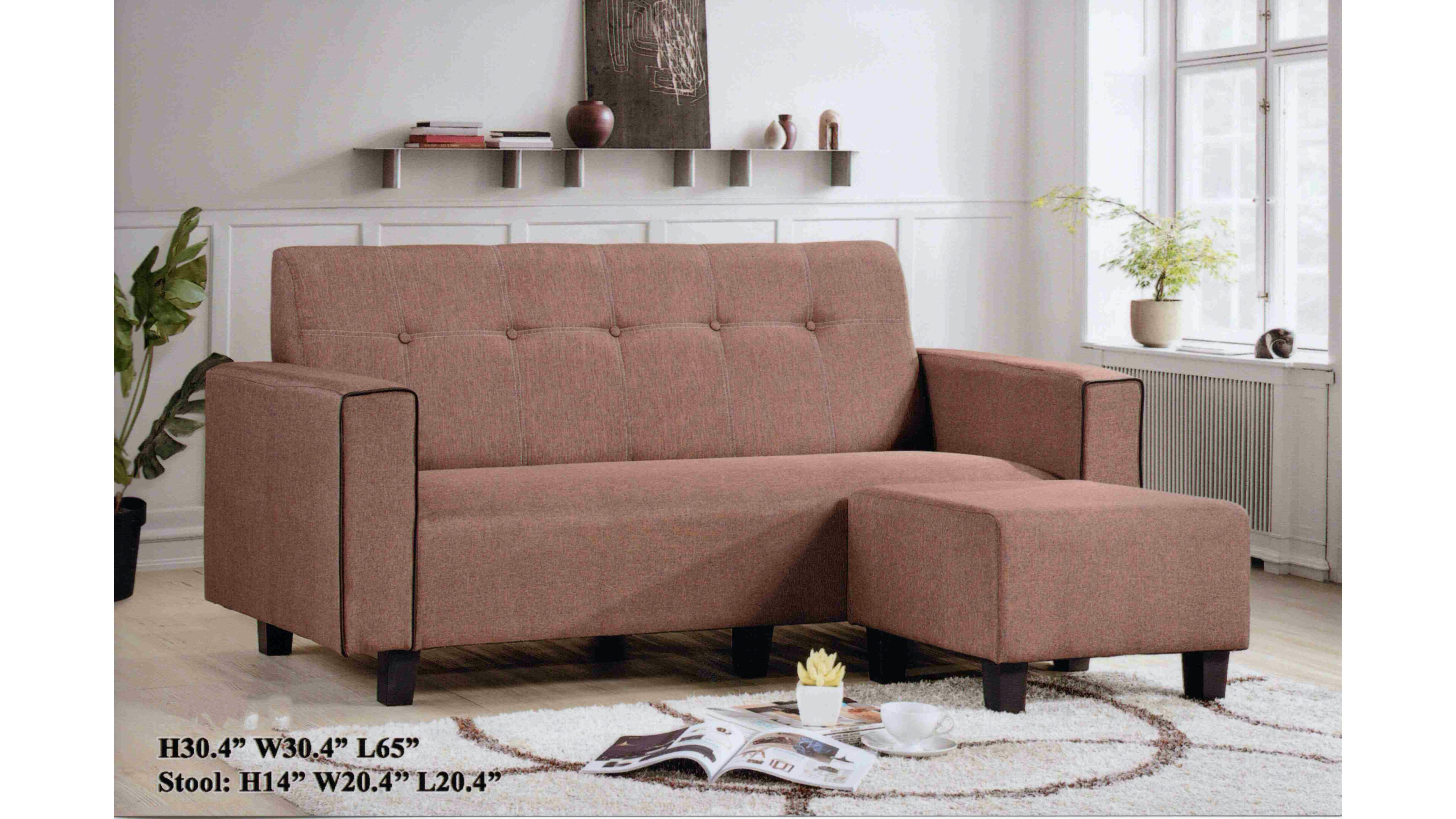 Picture of: T Home 3867 L Shape Sofa Brown Lazada