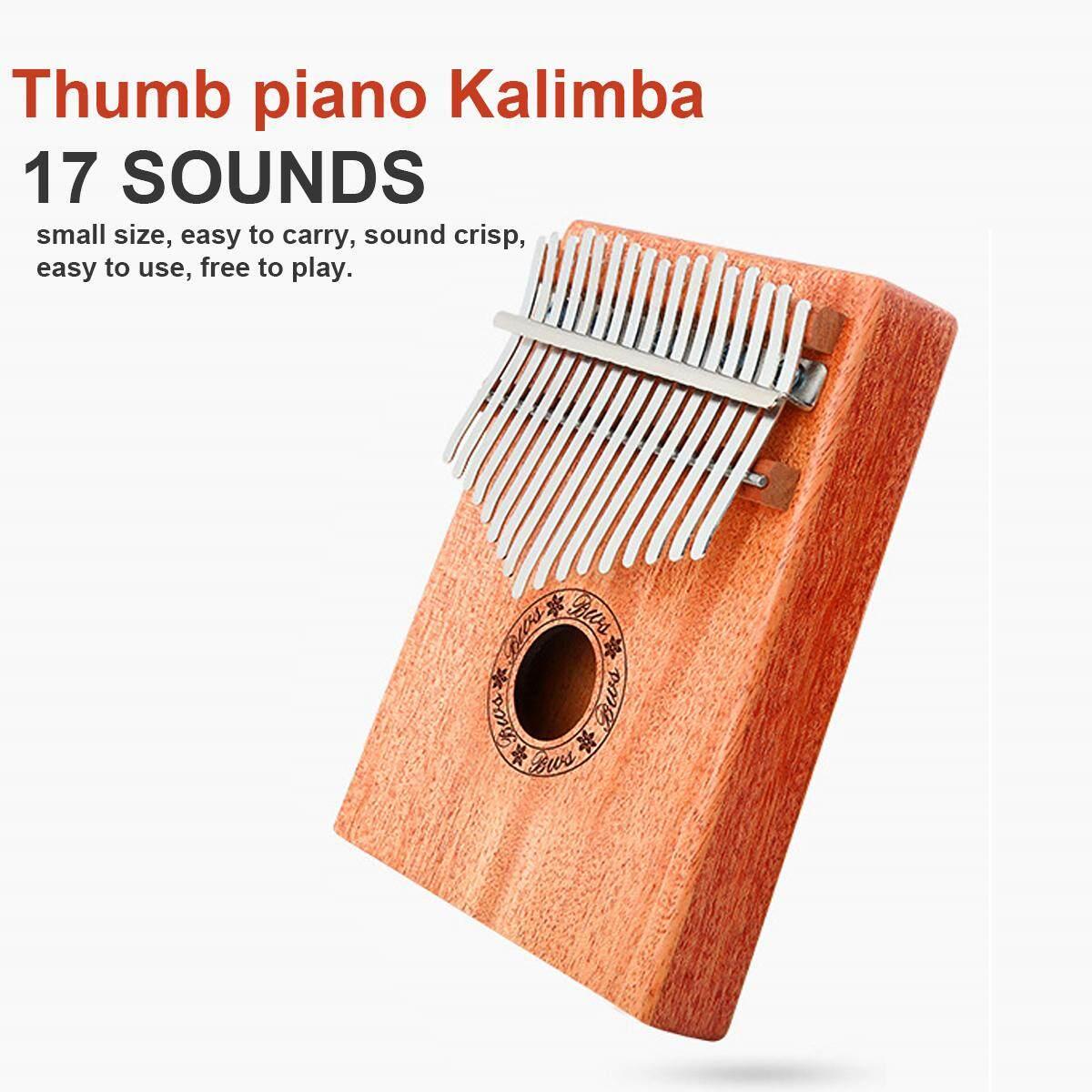 Piano ngón tay cái Đàn Kalimba 17 Âm Gỗ ngón tay Piano cho Người Mới Bắt Đầu Vào Âm Nhạc Di Động Dụng Cụ Kalimba ngón tay Piano