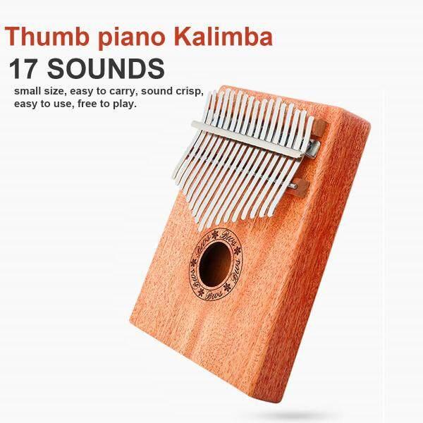 Thumb Piano Kalimba 17 Tone Mahogany Finger Piano Beginner Entry Portable Musical Instrument Kalimba Finger Piano - Malaysia
