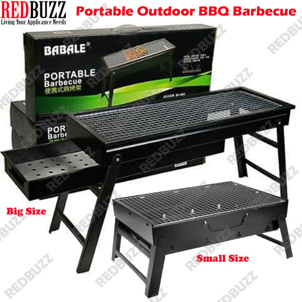 REDBUZZ Medium / Big Size Portable BBQ Grill Outdoor Folding Barbecue Outdoor Charcoal Grill BBQ Grill