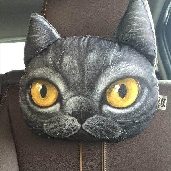 Quà Tặng Động Vật Mèo Chó Đáng Yêu 3D Bọc Ghế Than Hoạt Tính Tựa Đầu Ô Tô, Đệm Tựa Cổ Mềm Tựa Đầu An Toàn Không Khí Freshner