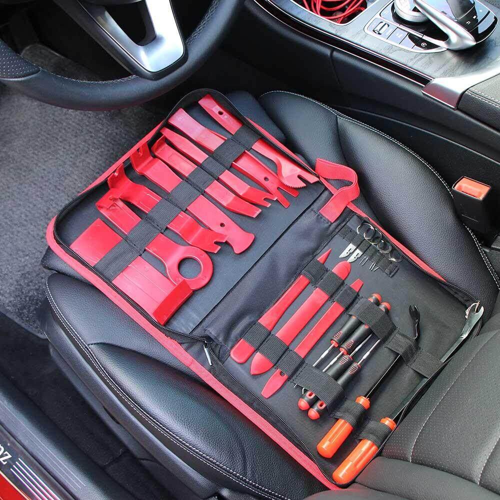 Portable 22Pcs Prying Tool Kit Car Interior Exterior Trim Removal Release Tools