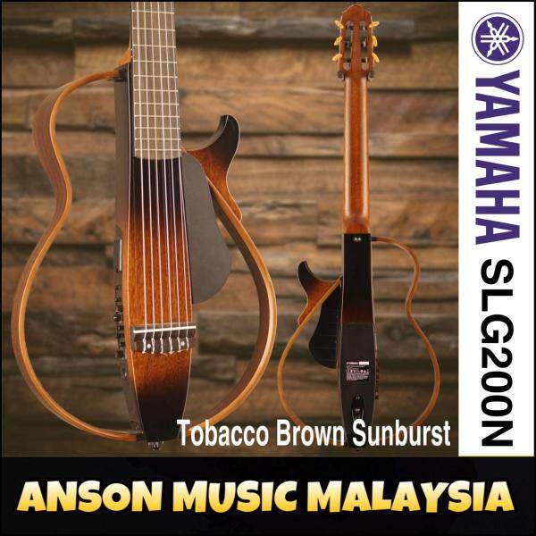 Yamaha SLG200N Silent Guitar W/Original Carry Bag, T.Brown Sunburst(TBS) Malaysia