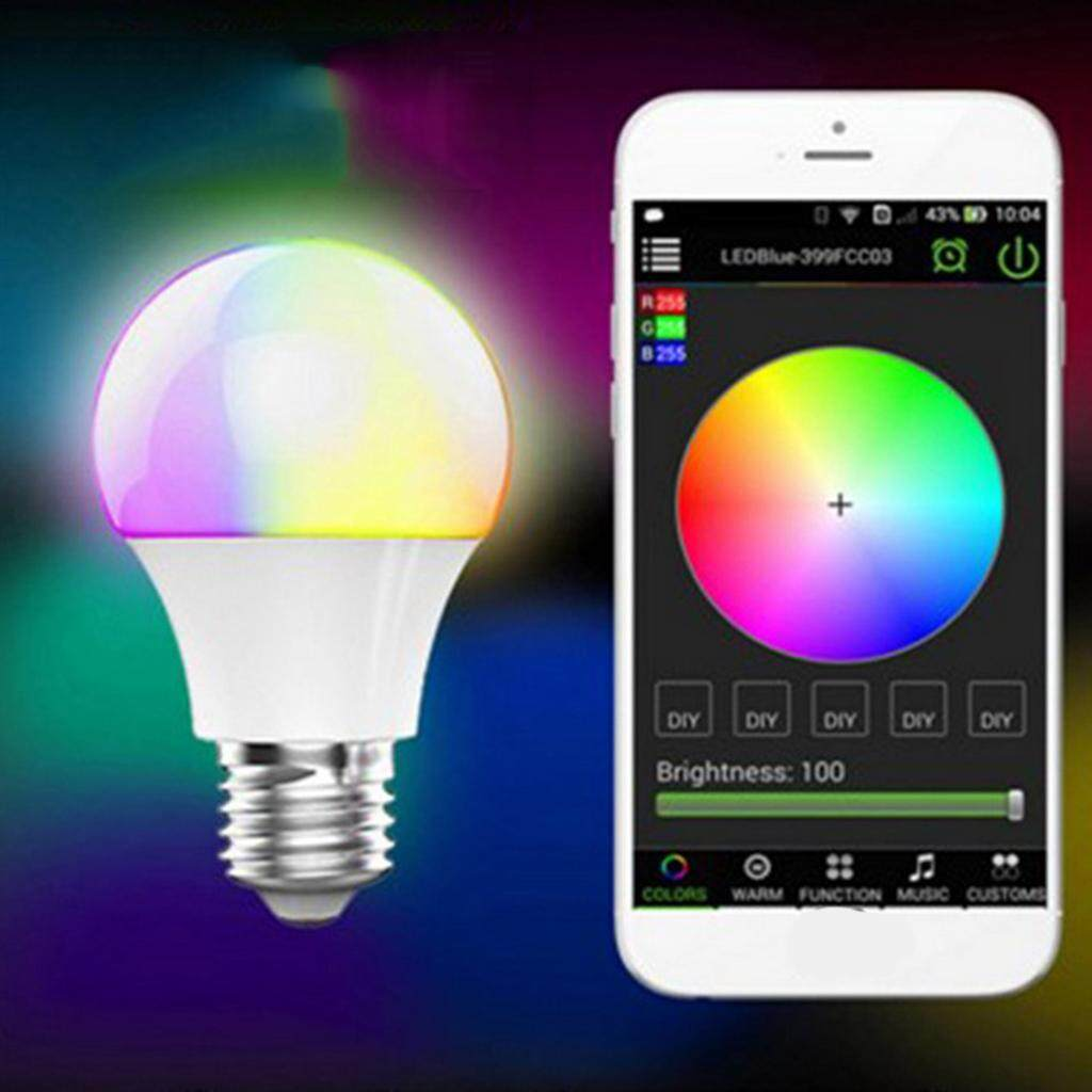 Loviver Smart RGBW LED Light Bulb Lamp Bulb Bluetooth App Controlled Bulb E27 4.5W