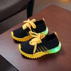 Giày Thể Thao LED Thời Trang Trẻ Em Giày Led Màu Kẹo Cho Bé Trai Bé Gái Giày Thể Thao Chạy Bộ Lưới Dạ Quang Cho Trẻ Em