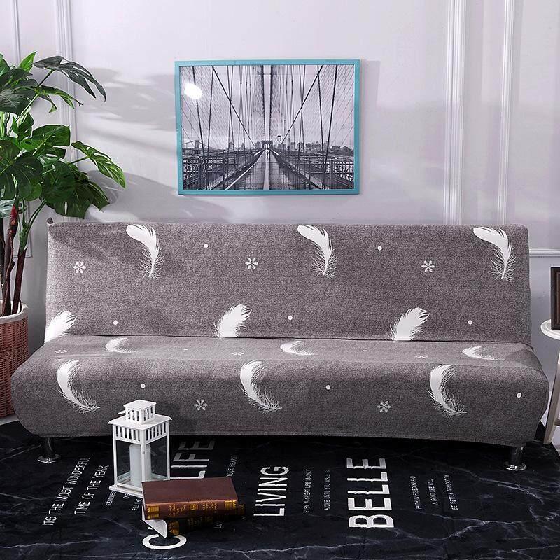 Tanpa Sandaran Lengan Peregangan Sarung Sofa All-Inclusive Sofa Lipat Selimut Tebal Universal Perlindungan Menyeluruh Sarung Sofa untuk (Keluarga)