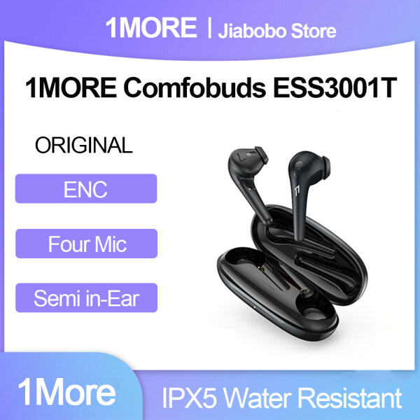 Original 1MORE Comfobuds ESS3001T TWS True Wireless Bluetooth Headphones 13.4mm Bass Dynamic 3.8g 4 Mic ENC Play Resume for Android IOS Headset Singapore