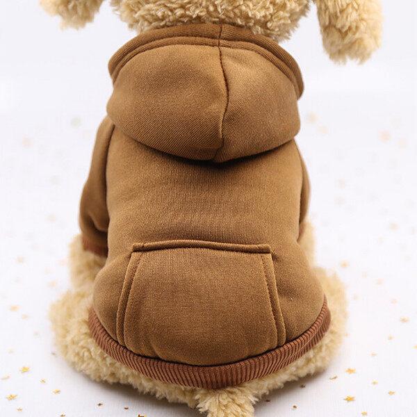 [Hàng Có Sẵn] Áo Nỉ Có Mũ Polyester Có Túi Quần Áo Cho Chó Quần Áo Thú Cưng