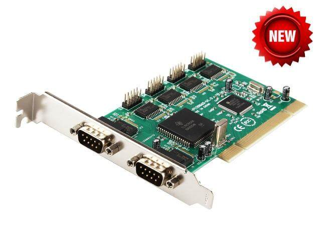 PCI Multiport Serial Card Serial port RS232 6 COM port 9-pin device PCI card industrial expansion Moschip 9865 chipset win10
