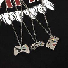 FJSL Vòng cổ 3 mảnh cổ điển dành cho nữ Phong cách hip-hop Mặt dây chuyền gamepad Chuỗi cặp đôi cơ bản đơn giản 3 dây chuyền