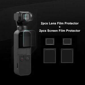 Magic Cube 2pcs Flexible Fiberglass Lens + 2pcs Screen Film Protector For Dji Osmo Pocket Parts By Magic Cube Express.